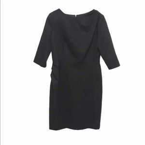 Moschino cheap and chic black ruched waist dress